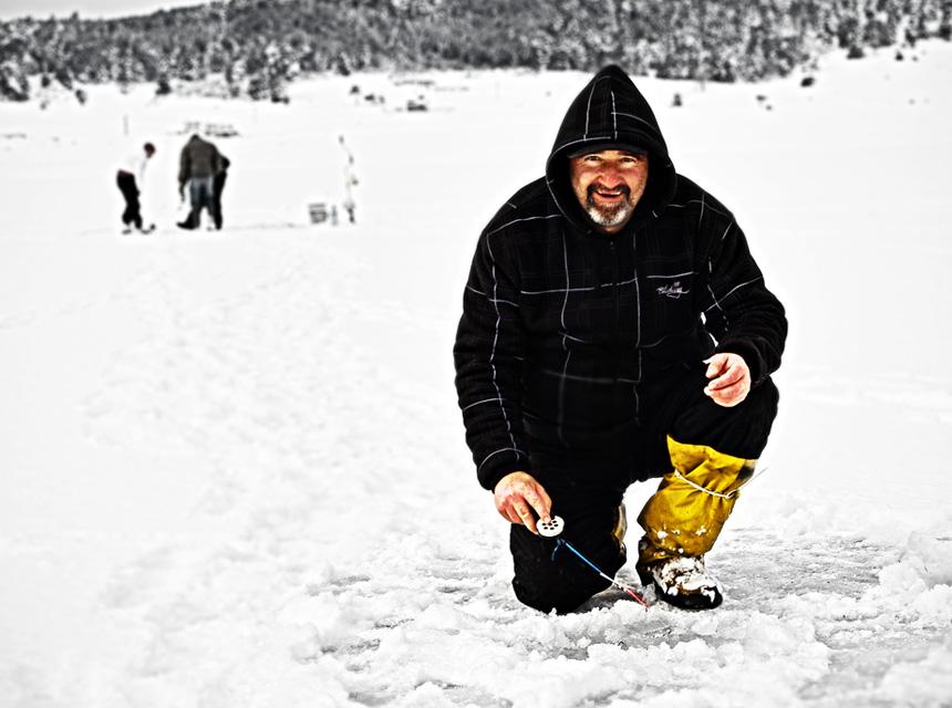 winter fishing, hole fishing, ice fishing, winter, ice