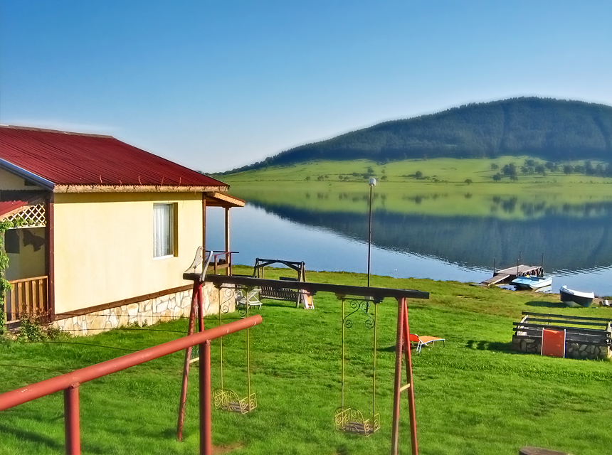 morning, dam, lake, shore guest house